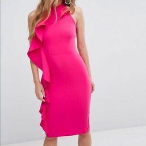 Hot pink cocktail dress